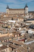 foto of alcatraz  - Overview of medieval city of Toledo with Alcatraz as a focal point - JPG