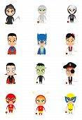foto of wolverine  - a set of different halloween costumes on a white background - JPG