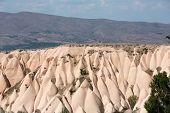 stock photo of goreme  - Volcanic rock landscape Goreme Cappadocia Uchisar Turkey  - JPG