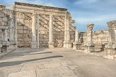 stock photo of repentance  - White Synagogue of Capernaum Israel  - JPG