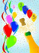 pic of gushing  - Multi coloured balloons confetti and streamers a party image - JPG