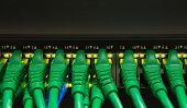 pic of telecommunications equipment  - usb cable board hub in digital telecommunication control room - JPG