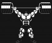 pic of barbell  - Illustration - JPG