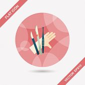 pic of surgical instruments  - Surgical Instrument Flat Icon With Long Shadow - JPG