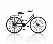 picture of bicycle gear  - vector vintage retro bicycle silhouette - JPG