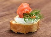 Постер, плакат: Appetizer With Salmon
