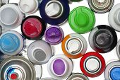 stock photo of spray can  - Spray paint can equipment objects isolated backgrounds - JPG