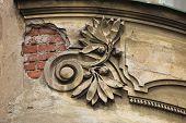picture of bohemia  - Art Nouveau stucco decoration in Hradec Kralove - JPG