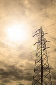 image of transmission lines  - Energy Concept - JPG