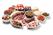 foto of antipasto  - Spanish tapas or antipasto food - JPG