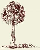 stock photo of vase flowers  - Vase of flowers - JPG