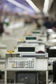 pic of terminator  - Cash desk with terminal in a supermarket - JPG