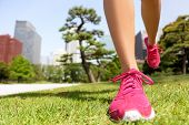 stock photo of japan girl  - Running shoes  - JPG