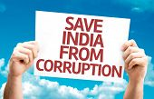 pic of bannister  - Save India From Corruption card with sky background - JPG