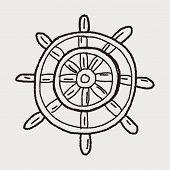 picture of rudder  - Rudder Doodle - JPG
