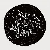 picture of mammoth  - Mammoth Doodle - JPG