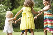 foto of 16 year old  - Group Of Children Playing Outdoors Together - JPG