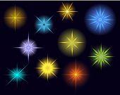 pic of starlet  - Vector glowing stars - JPG