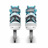 picture of inline skating  - Roller skates front view isolated on white background - JPG