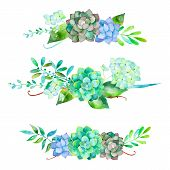 stock photo of floral bouquet  - Vector flowers set - JPG