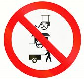 picture of rickshaw  - Prohibitory road sign in Indonesia  - JPG