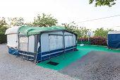 foto of caravan  - Caravan on a camping site in Spain - JPG
