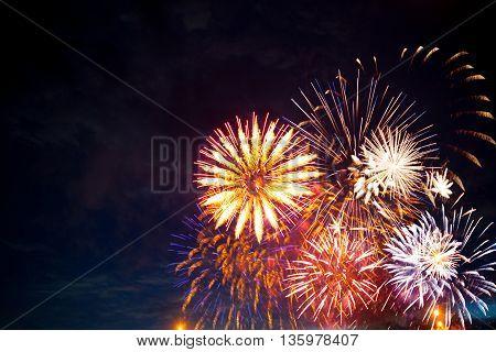 Fireworks In Sky Twilight