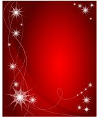pic of card christmas  - red vector christmas background  - JPG