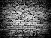 foto of stonewalled  - rough brick wall - JPG