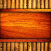 Постер, плакат: дерево шаблон с бамбуком