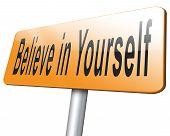 Believe In Yourself Self Belief poster