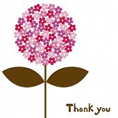 foto of thank-you  - flower vector illustration - JPG