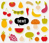 Various Fruits and Vegetables sticker