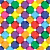 Color Squares Seamless Pattern. Bright Vivid Flat Color Overlay Transparent Rounded Squares Backgrou poster