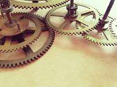 Gears in clockwork poster
