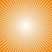 Orange Abstract Geometrical Sunray Background - Retro Vector Graphic Design From Radial Stripes poster
