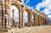 Volubilis Near Meknes In Morocco. Volubilis Is A Ruined Amazigh, Then Roman City In Morocco Near Mek poster