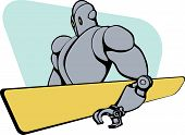 picture of gentle giant  - Gentle giant robot drawn in fifties style - JPG