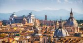 Rome, Italy Skyline In Panoramic View poster