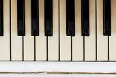Piano Close-up, Musical Instrument. Learn To Play The Instrument At Home. White Large Piano. Piano K poster