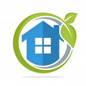 The Icon Logo Illustration With The Concept Of Environmentally Friendly Home Energy Management poster