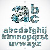Ecology Style Flowery Font, Vector Typeset Made Using Natural Ornament. Alphabet Lowercase Letters C poster