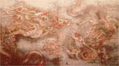 Ancient Painting Of Dragon poster