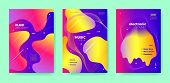 Pink Dj Flyer. Electronic Festival. Purple Gradient Brochure. Neon Abstract Design. Colorful Dj Layo poster