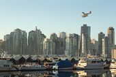 Floatplane Over Coal Harbor, Vancouver