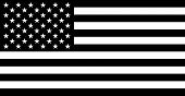 stock photo of usa flag  - Black Vector Image Silhouette Of American Flag - JPG
