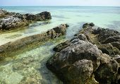 foto of promontory  - he beautiful Gelam beach located on the promontory of the island of Java Karimun - JPG