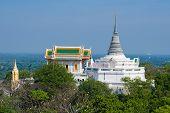 View Of The Ancient Buddhist Temple Wat Phra Kaew And Stupa Phra Sutthasela Chedi. Sunny Day. Royal  poster