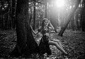 Female Spirit Mythology. Wilderness Of Virgin Woods. She Belongs Tribe Warrior Women. Wild Attractiv poster