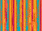 Watercolor Strips Seamless Vector Background. Striped Tablecloth Textile Print. Uneven Ink Hatch Ver poster